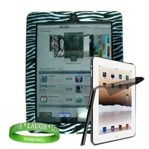 Blue Zebra Animal Print iPad Screen Protector + ipad Stylus Pen